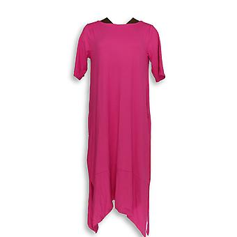Cuddl Duds Women's Gowns Flexwear Elbow Sleeve Rainbow Hem Pink A346868