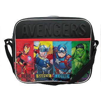 Marvel Avengers Tobin Courier Messenger Bag, 34 cm, Black