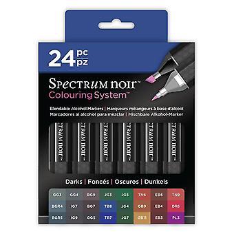 Colouring System by Spectrum Noir 24 Pen Set - Darks