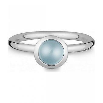 טבעת של קווין-כסף עם topas כחול-021832658