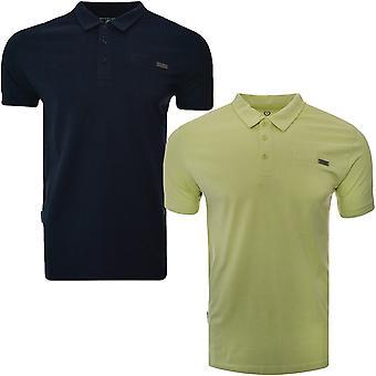 Lambretta Herren Metall Abzeichen Baumwolle Kurzarm Casual Jersey Polo Shirt T-Shirt