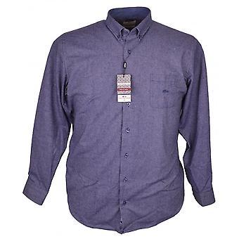DARIO BELTRAN Dario Beltran Herringbone Brushed Cotton Shirt