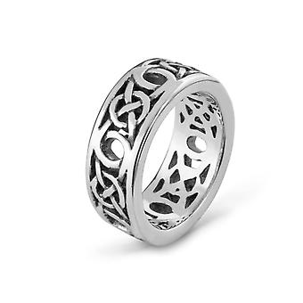 Celtic Eternity Knotwork Przeplot Unisex Ring