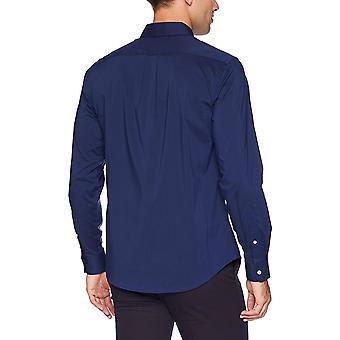 Dockers män ' s Långärmad Button front Comfort Flex skjorta,, blå, storlek Large