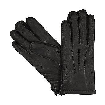 LLOYD Herrenhandschuhe Handschuhe Hirschleder Handgenäht Schwarz 8371