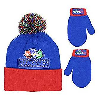 Beanie Cap - PJ Mask - Blue/Red w/Mittens Hat 358805
