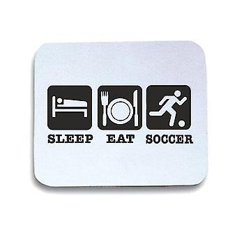 Tappetino mouse pad bianco wtc1474 sleep eat soccer