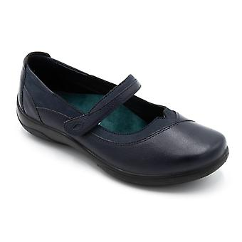 Padders Medley Ladies Leather Extra Wide (2e/3e) Shoes Navy