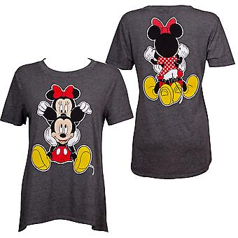 Mickey and Minnie Juniors Fitted Grey T-Shirt