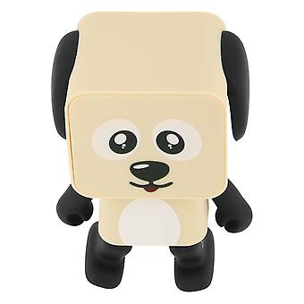Bluetooth Speaker Dancing Dog Wireless Microphone MOB Beige and Black
