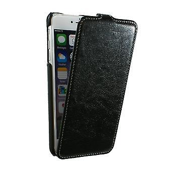 Ultraslim Fall In Faux schwarz Leder Nappa für IPhone 6 mehr