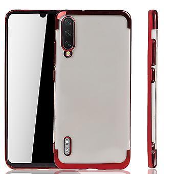 Funda de teléfono para Xiaomi Mi A3 Rojo - Claro - TPU Caso de silicona Backcover Funda protectora en transparente / borde brillante rojo