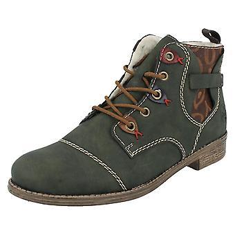Botas de tornozelo 77443 das senhoras Rieker