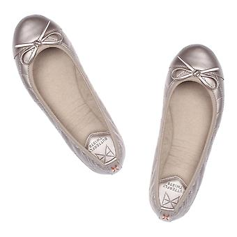 Butterfly Twists Olivia - Patent Toe With Bow - Folding Ballerina Pumps - Cream
