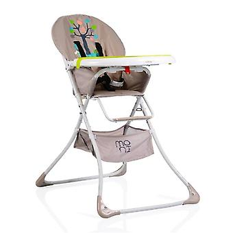 High chair Cherry with table, foldable, storage basket, 5-point seat belt