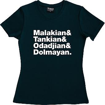 Systeem van een down line-up Navy Blue vrouwen ' s T-shirt