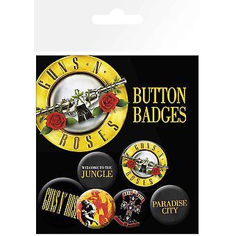 Guns N Roses Badge Pack Lyrics And Logos new Official Set Of 6
