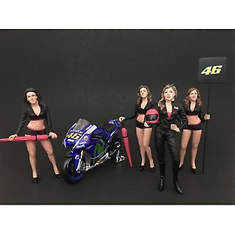 Mädchen Team 4 Stück Figur Set für 1:24 Maßstab Modelle von American Diorama