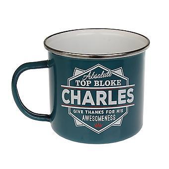 History & Heraldry Charles Tin Mug 34