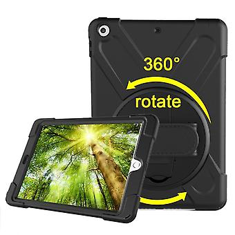 Black Hand-strap Armor For iPad 2017, 2018 9.7-inch Case