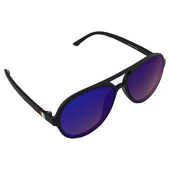 Zonnebril UV 400 Aviator Zwart Blauw Reflecterend 2735_12735_1