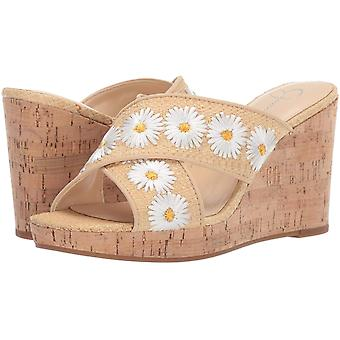 Jessica Simpson Womens Leather Open Toe Casual Platform Sandals