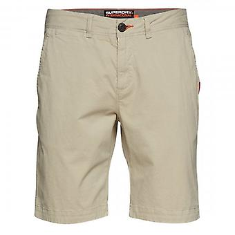 Superdry International Linen Chino Shorts Pebble Beige 8Q4