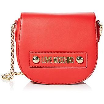 Love Moschino Borsa Small Grain Pu Tracolla Donna (Rosso) 15x20x8 cm (W x H x L)