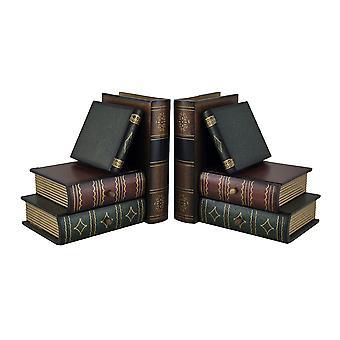 Stapel von Hardcovers Buchstützen mit Stash Schubladen