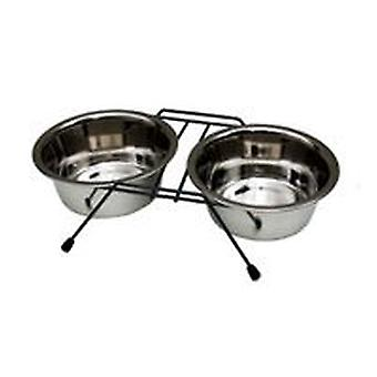 Freedog Double Support for Dogs (Dogs , Bowls, Feeders & Water Dispensers)