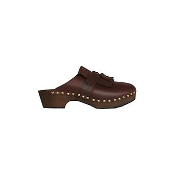 Céline 336613365c17mc Women's Brown Leather Slippers