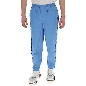 Comme Des Garçons Shirt S281802 Men's Light Blue Nylon Pants