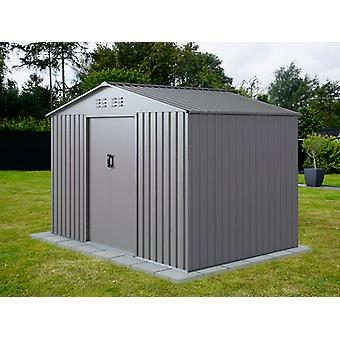 Caseta de jardín 2,77x1,91x1,92m ProShed®, Aluminio Gris