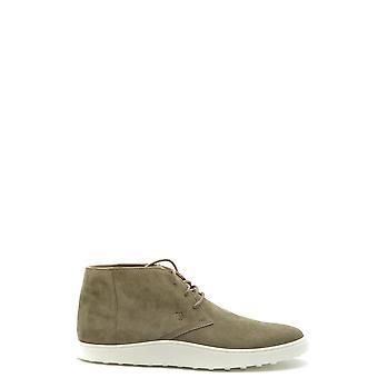Tod's Ezbc025091 Men's Green Suede Hi Top Sneakers