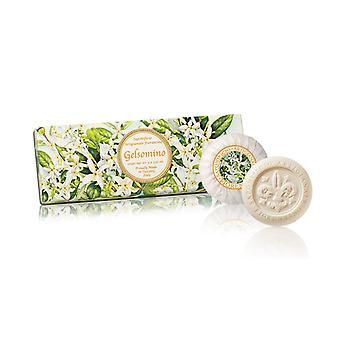 Saponificio Artigianale Fiorentino Handgemaakte Jasmijn Zeep liefdevol verpakt in hoge kwaliteit Gift Box 3x100g