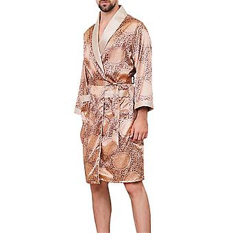 Allthemen Men's 2-częściowy zestaw piżamy drukowane Homewear Wygodne sleepwear