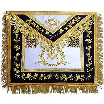 Grand master apron bullion hand embroidered vine work