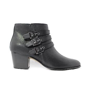 Clarks Maypearl Rayna Black Leather Womens Heeled Ankle Boots