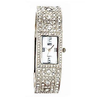 Eton Diamante Bangle Watch, Real MOP Dial, Chrome Finish - 3193L-CH