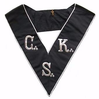 Masonic collar - aasr - 30th degree - hand embroidery