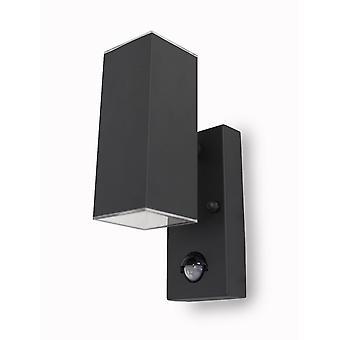 Lámpara de pared del sensor Jarn square UpDown Led 6 W gris oscuro 3000K 10880