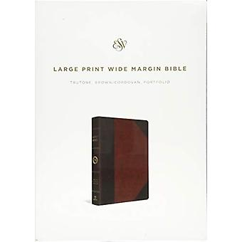 ESV Large Print Wide Margin Bible - 9781433562457 Book