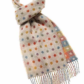 wool scarf multispot beige