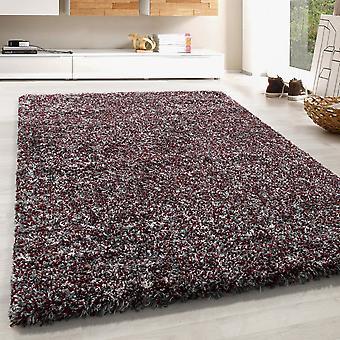 High Flor Shaggy Rug Long Floral Carpet colorido gris claro gris rojo crema derretida
