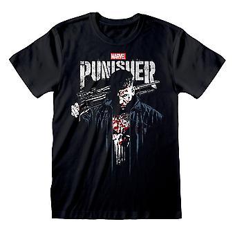 Marvel Punisher TV-Serie Blutig Frank Castle Männer's T-Shirt | Offizielles Merchandise