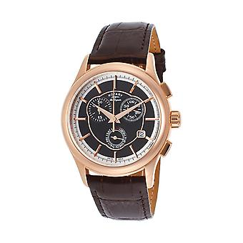 Roterande GS90046-06 Les Originales Män's Chronograph Quartz Watch - Brun