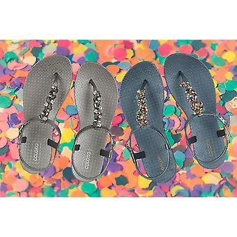 Coloko Stargazer Ergonomic Footbed Sandals with Jewel T-Bar Detail