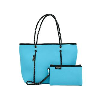 WILLOW BAY AU BOUTIQUE Neopreen Tote Bag - MID BLUE