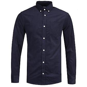 NN07 5723 Levon Corduroy Dark Navy Long Sleeve Shirt