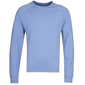 Albam Hemp Blend Crew Neck Light Blue Sweatshirt